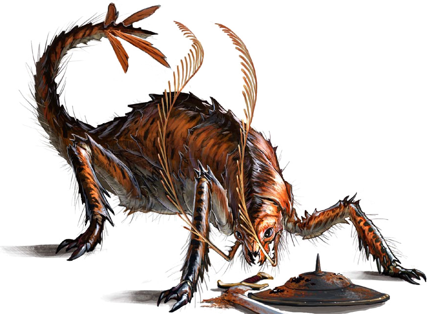 Rust Monsters In Dungeons And Dragons Old School Role Playing